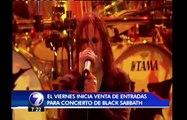 Venta de entradas para Black Sabbath inicia el próximo viernes