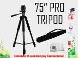 75 Professional Heavy Duty 3-Way Pan Head Tripod For Panasonic AG-HMC40 AG-HMC42 AG-HMC80 AG-HMC150