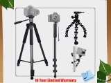 Professional Tripod Kit For The Sony DSLR-A100 A700 A300 A350 A200 DSC-H10 DSC-H5 DSC-H50 DSC-H3