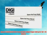 Epson C13S042330 Hot Press Bright Inkjet Paper 330 g/m? A3  25 Sheets
