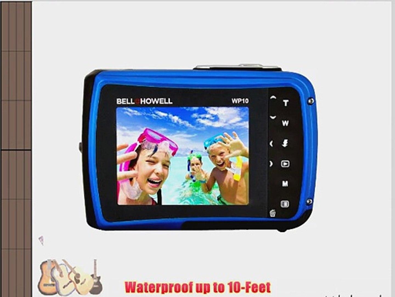 Bell Howell Splash WP10-BL 12 0 Megapixel Waterproof Digital Camera with  2 4-Inch LCD (Blue)