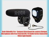 Rode VideoMic Pro - Compact Directional On-camera Shotgun Microphone with Free Polaroid CVL-18