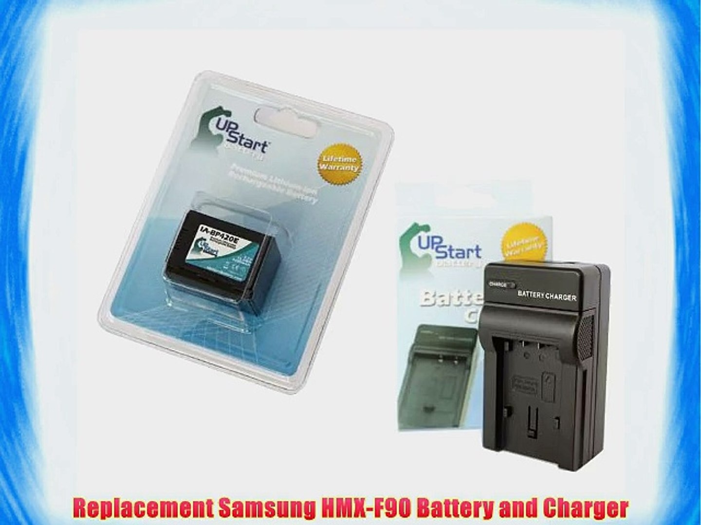 Samsung HMX-F90 Battery and Charger - Replacement for Samsung IA-BP420E Digital Camera Batteries