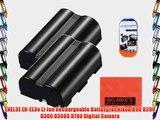 Pack of 2 EN-EL3e Batteries Replacement for Nikon D90 D200 D300 D300S D700 Digital SLR Camera
