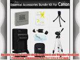 Essential Accessories Bundle Kit For Canon PowerShot ELPH 330 HS ELPH 100 HS  ELPH 300 HS ELPH