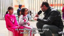 Displaced young Christian Iraqi girl is asked to say something to ISIS – her response is AMAZING