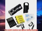 Nitecore TM06 3800 Lumens CREE XML2 U2 LED Flashlight 365Yards Beam Waterproof Tactical Searchlight Smallest Lightest Ti