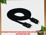 Street Strap - 52 inches Soft Round Camera Strap for Leica Micro 4/3 Fuji Cameras with Round