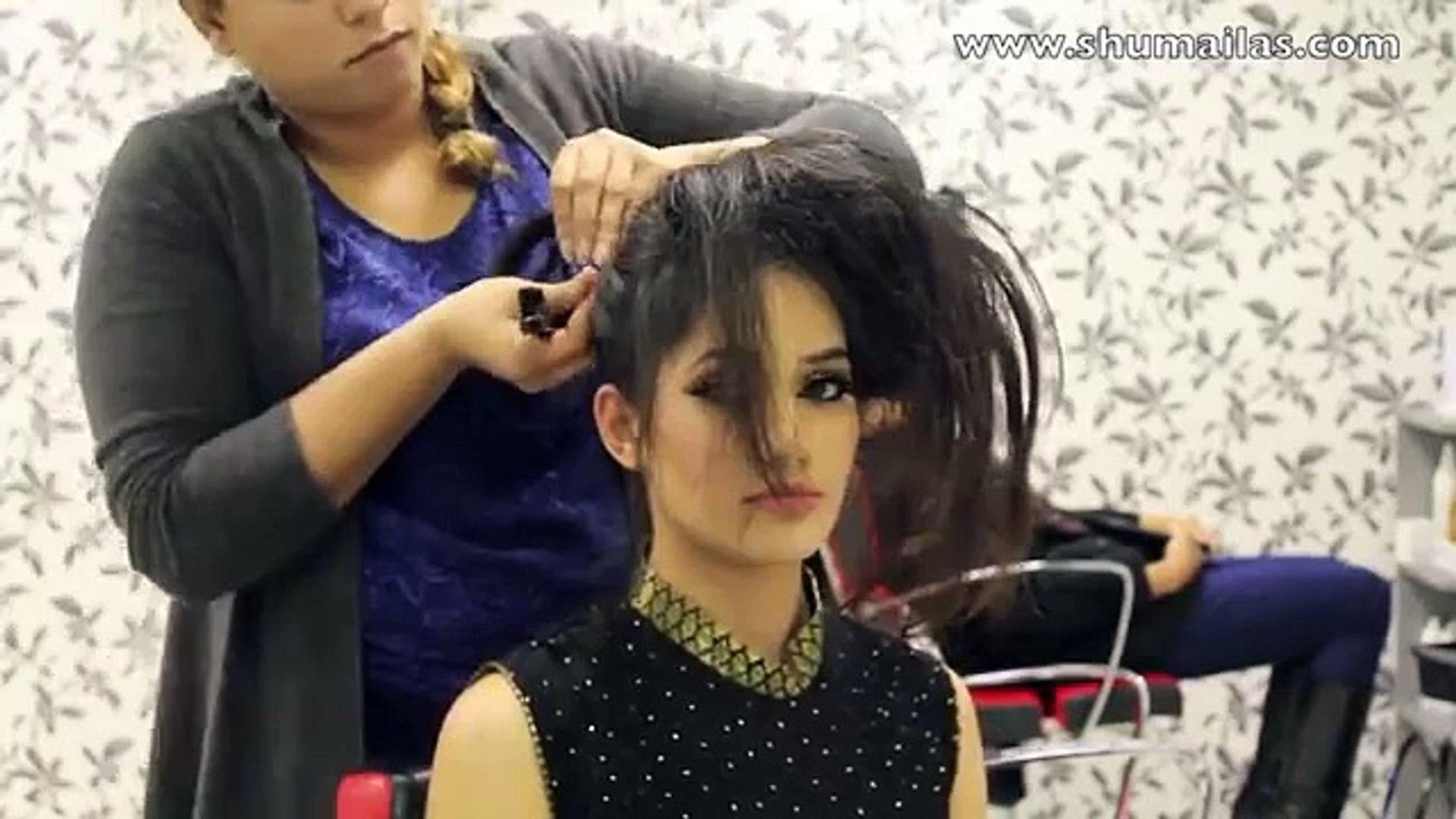asian bridal hairstyles - pakistani_indian wedding hair style_updo bun using doughnut or donut