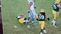 Did Ndamukong Suh intentionally step on Aaron Rodgers' leg