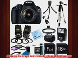 Canon EOS Rebel T5 18MP DSLR Camera Ultra 3 Lens Bundle Includes Rebel T5 Digital Camera EFS 1855mm IS II lens Pro 2x Te