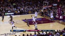 LeBron James Fakes Out Luis Scola - Pacers vs Cavaliers - March 20, 2015 - NBA Season 2014-15