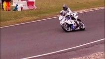 Bike crash chute Moto Circuit Carole BMW VS SUZUKI 2015