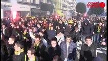 Rennes Nantes: la longue marche des supporters nantais dans Rennes