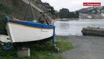 Marée du siècle. Pleine mer sur la baie de Saint-Michel-en-Grève à Locquirec