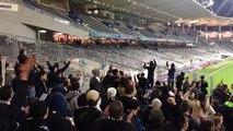 Les supporters bordelais chambrent ceux du TFC