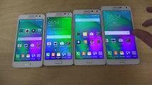 Samsung Galaxy A7 vs. Galaxy Alpha vs. Galaxy A5 vs. Galaxy A3 - Which Is Faster! (4K)
