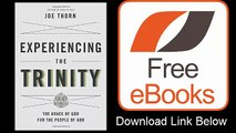 Experiencing the Trinity The Grace of God for the People of God by Joe Thorn Download ePub