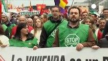 تظاهرات در مادرید به بهانه عدم احترام دولت به شان شهروندان اسپانیایی