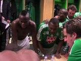 La joie des Verts après ASSE - Lille (2-0)
