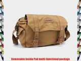 Modovo Canvas Leisure DSLR SLR Camera Bag Messenger Bag Ultra-large Capacity Removable Inside
