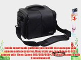 Eggsnow Waterproof Nylon One Shoulder DIY Partition Camera Bag for Canon Nikon Sony SDLR Camera(Storage