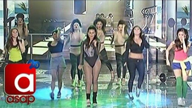 Kim, Maja, Nikki, Vina and Iza in ASAP dance showdown