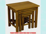 OAKLAND - CHUNKY OAK NEST OF 3 TABLES / SIDE TABLES / END TABLES