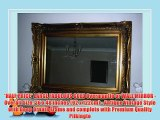 *HALF PRICE* LARGE FABULOUS GOLD Overmantle or WALL MIRROR - Overall Size: 36 x 48 inches (92