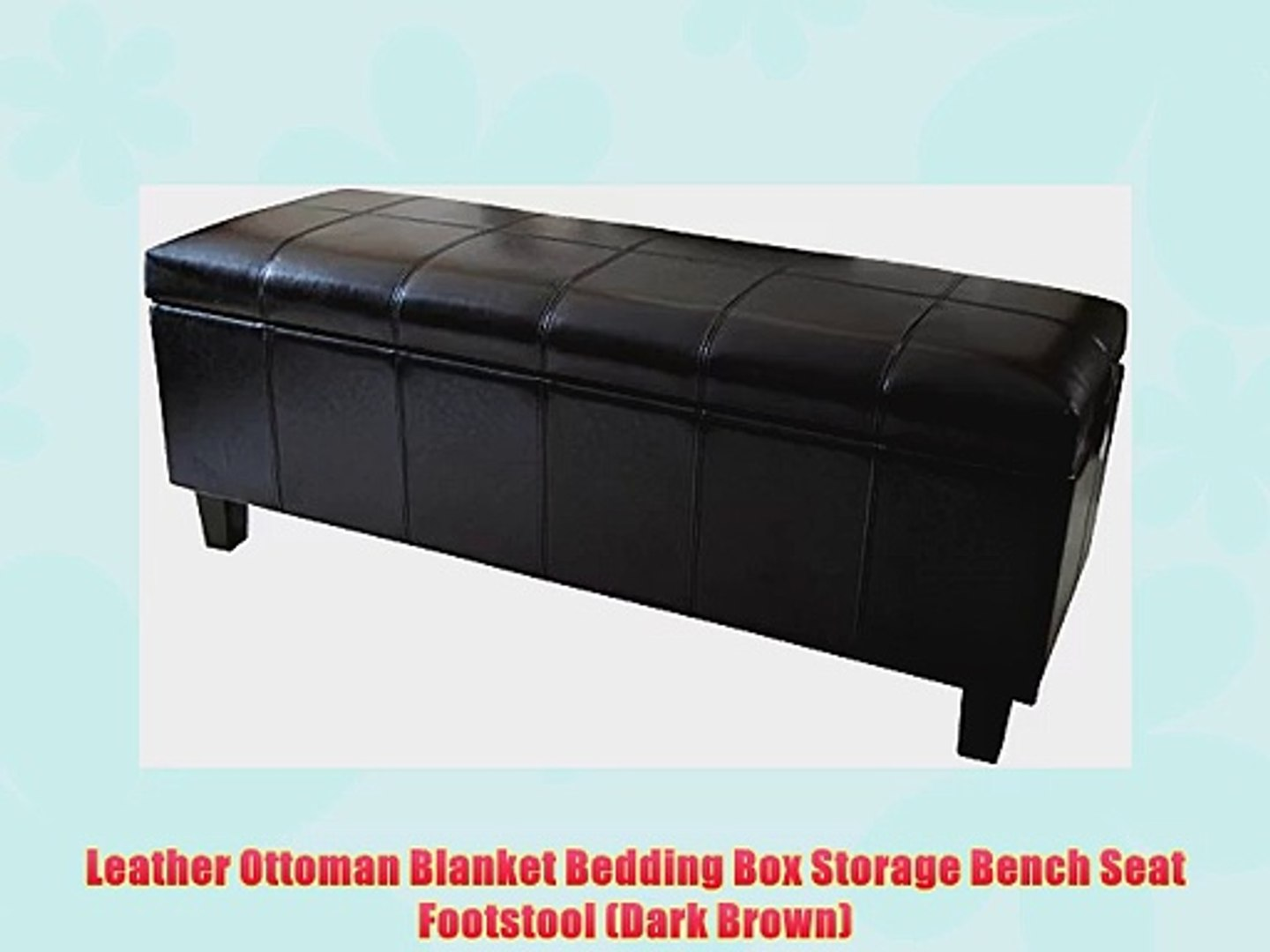 Super Leather Ottoman Blanket Bedding Box Storage Bench Seat Footstool Dark Brown Ncnpc Chair Design For Home Ncnpcorg