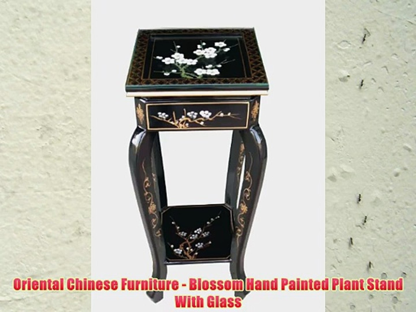 Oriental Chinese Furniture Blossom Hand Painted Plant Stand With Glass Video Dailymotion