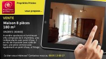 A vendre - maison - ONDRES (40440) - 8 pièces - 180m²