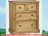 CORONA MEXICAN DISTRESSED WAXED PINE 2 2 CHEST OF DRAWERS