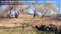A vendre - maison - MISON (04200) - 4 pièces - 76m²