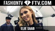 Elie Saab Fall/Winter 2015 Arrival & Backstage ft. Karlie Kloss & Anja Rubik   Paris Fashion Week PFW   FashionTV