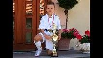 Amazing foot ball technics 8 years old boy