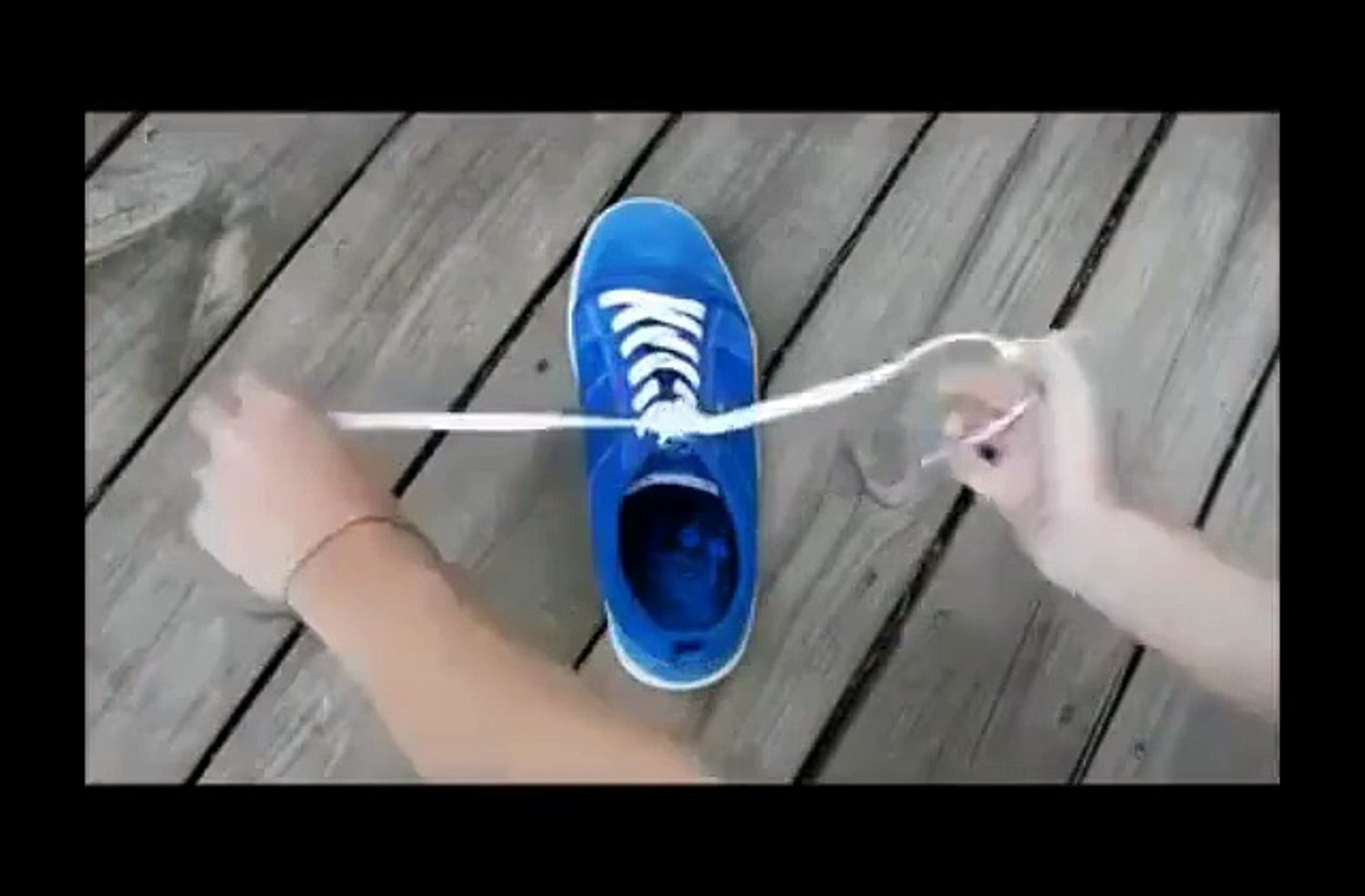 how to tie a shoe in a second