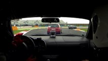 Honda S2000 vs Renault Clio Turbo at Magny Cours 22 03 2015