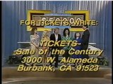 February 24, 1986 nighttime Sale of the Century end credits