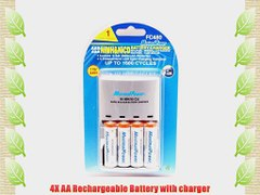 Maximal Power FC480 Rapid AA AAA Batery Charger with 4 Recha