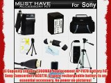 Must Have Accessory Kit For Sony HDR-PJ380 HDR-PJ380/B HDR-CX330 HDR-CX900 HDR-PJ810 HDR-PJ540