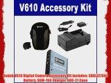 Kodak V610 Digital Camera Accessory Kit includes: SDKLIC7001 Battery SDM-158 Charger SDC-21