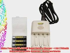 Maha Powerex MH C204W Rapid Battery Charger 4 AA 2