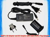 HQRP AC Power Adapter Kit for Canon ACK-E4 ACKE4 fits EOS-1D Mark III EOS-1Ds Mark III EOS-1D