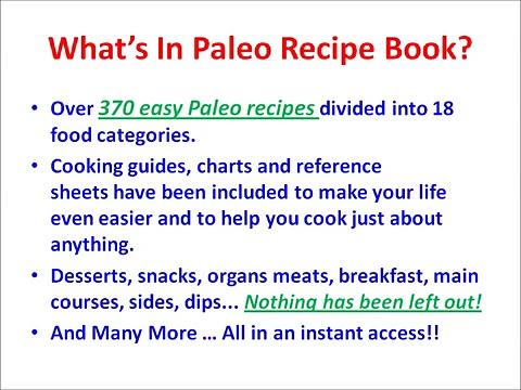 Paleo Recipe Book – Get Paleo Recipe Book + BONUS for Free !!!