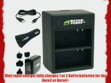 Wasabi Power Dual Battery Charger for GoPro Hero3 Hero3  and GoPro AHDBT-301 AHDBT-302 AHBBP-301
