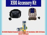 GE X500 Digital Camera Accessory Kit includes: SDC-26 Case SB257 Charger