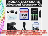 8GB Accessory Kit For Kodak EasyShare Max Z990 Z5010 Z5120 Digital Camera Includes 8GB High