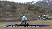 Crash A320: les secours se mettent en place à Seyne-les-Alpes