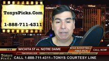 Notre Dame Fighting Irish vs. Wichita St Shockers Free Pick Prediction NCAA Tournament College Basketball Odds Preview 3-26-2015